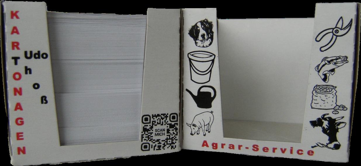 Sonderverpackungen bedrucken lassen - Zettelbox von Udo Thoß Kartonagen