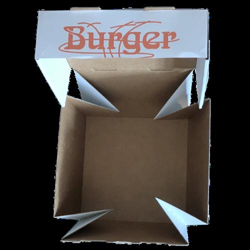 Foodbox Burger Box bedrucken lassen - offen