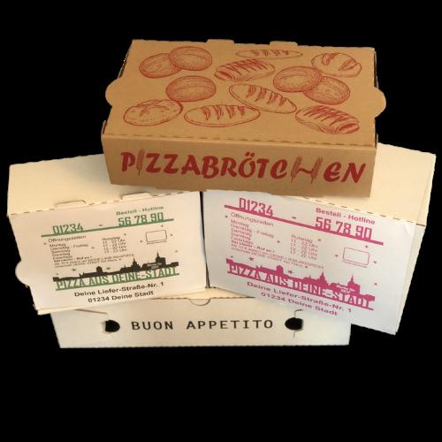 Pizzakartons mit Logo bedrucken Pizzakartons Sonderformate